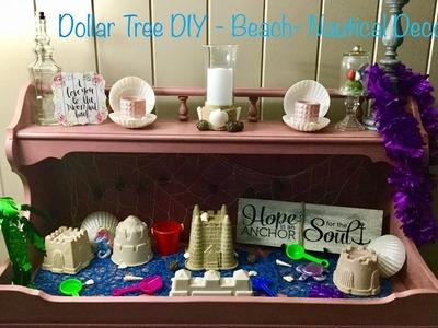 Dollar Tree Summer. Nautical Decor DIY Decor - Part 1 Decorations