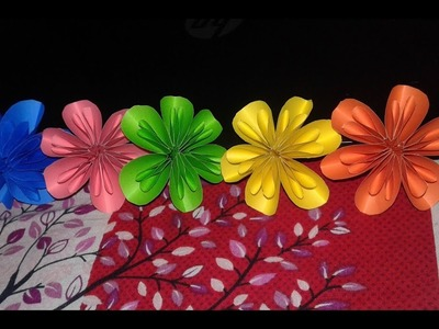 EASY FLOWER MADE WITH COLOR PAPER I কাগজের ফুল I
