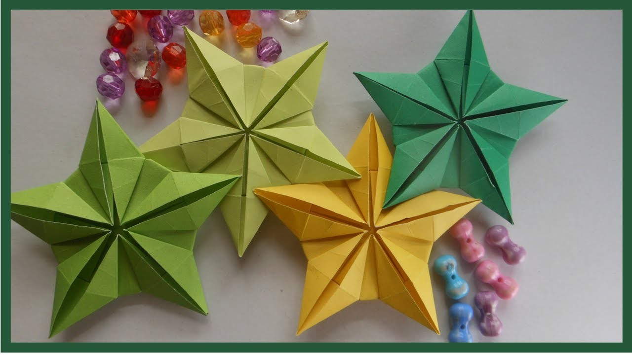 Easy Origami Flower Star Origami Star Bowl Instructions Paper