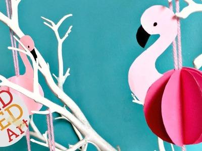 Easy Paper Flamingo DIY   Summer Room Decor DIY   Party Decor Ideas