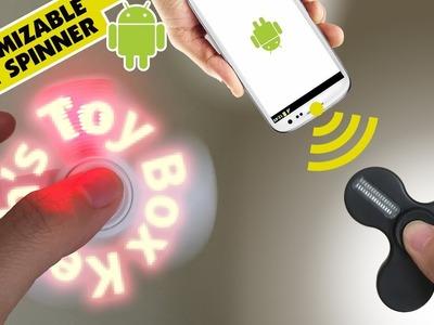 Fidget Spinner DIY Customizable LED Flash Words Hand Bestorx Technology || Keiths Toy Box