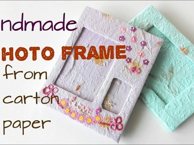 Handmade Photo Frame from Carton Paper