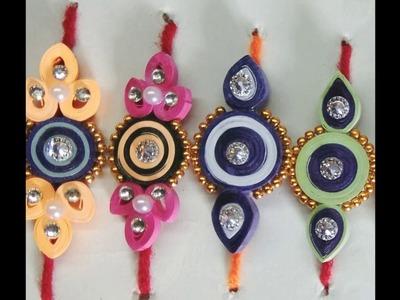 Handmade Quilled Rakhi's.Colourful Paper Rakhi's By Girija Arts & Crafts