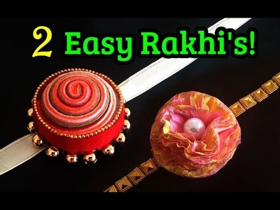 Handmade Rakhi Video #5 : Paper Rakhi for Kids | Easy Rakhi Making at Home | DIY Kids Rakhi
