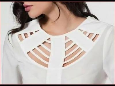 Hollow neck design cutting and stitching DIY खोखले गर्दन डिजाइन कट और सिलाई
