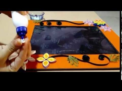 How to decorate photo frame with quilling