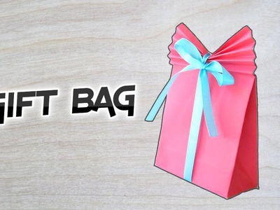 ✓ How To Make a Cute Paper GIFT BAG - Easy Gift Bag in 5 Minutes: Easy DIY and Crafts || RxFact ✓
