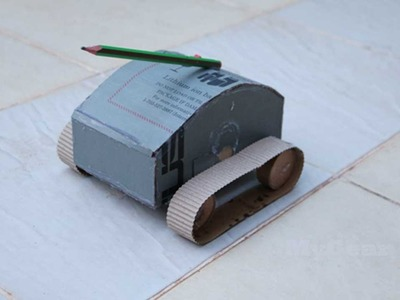 How to Make a DIY Super Power Tank out of Paper and DC Motor 9V Battery by MyGear