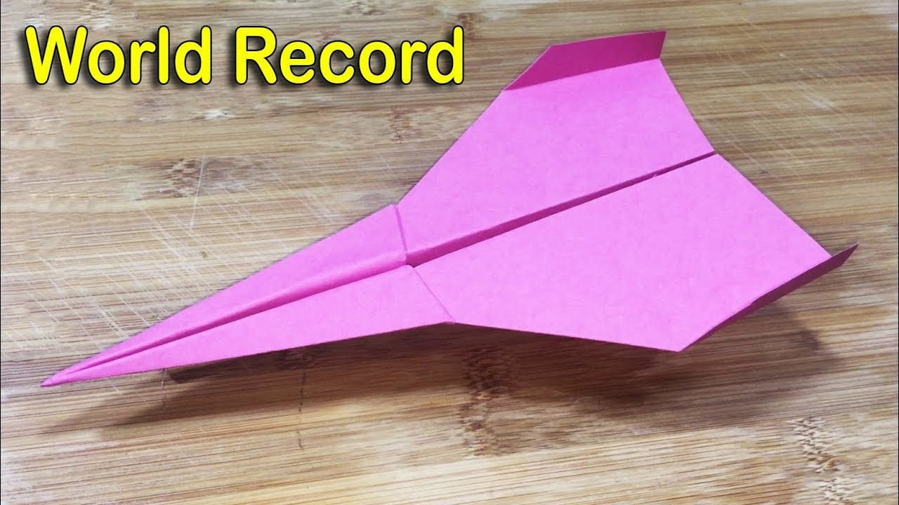 how to make paper airplanes that fly far and fast