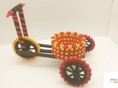 How to make a Quilled tricycle with basket. Project idea. MagicQuill