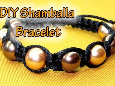How To Make a Simple Macrame Beaded Bracelet - DIY Shamballa Bracelet - Macrame Projects