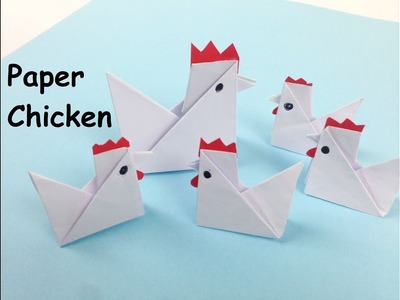 How to Make a Simple Paper Chicken - Easy Tutorials | DIY Fold Yourself a Chicken - Crafts for Kids
