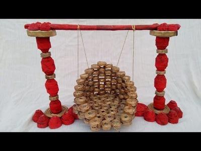 How to make bal gopal jhula.swing | news paper swing | HMA##076