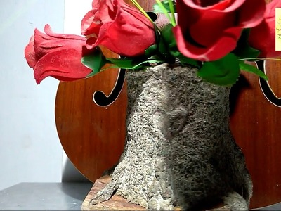 How to make beautiful flower vase for room decoration