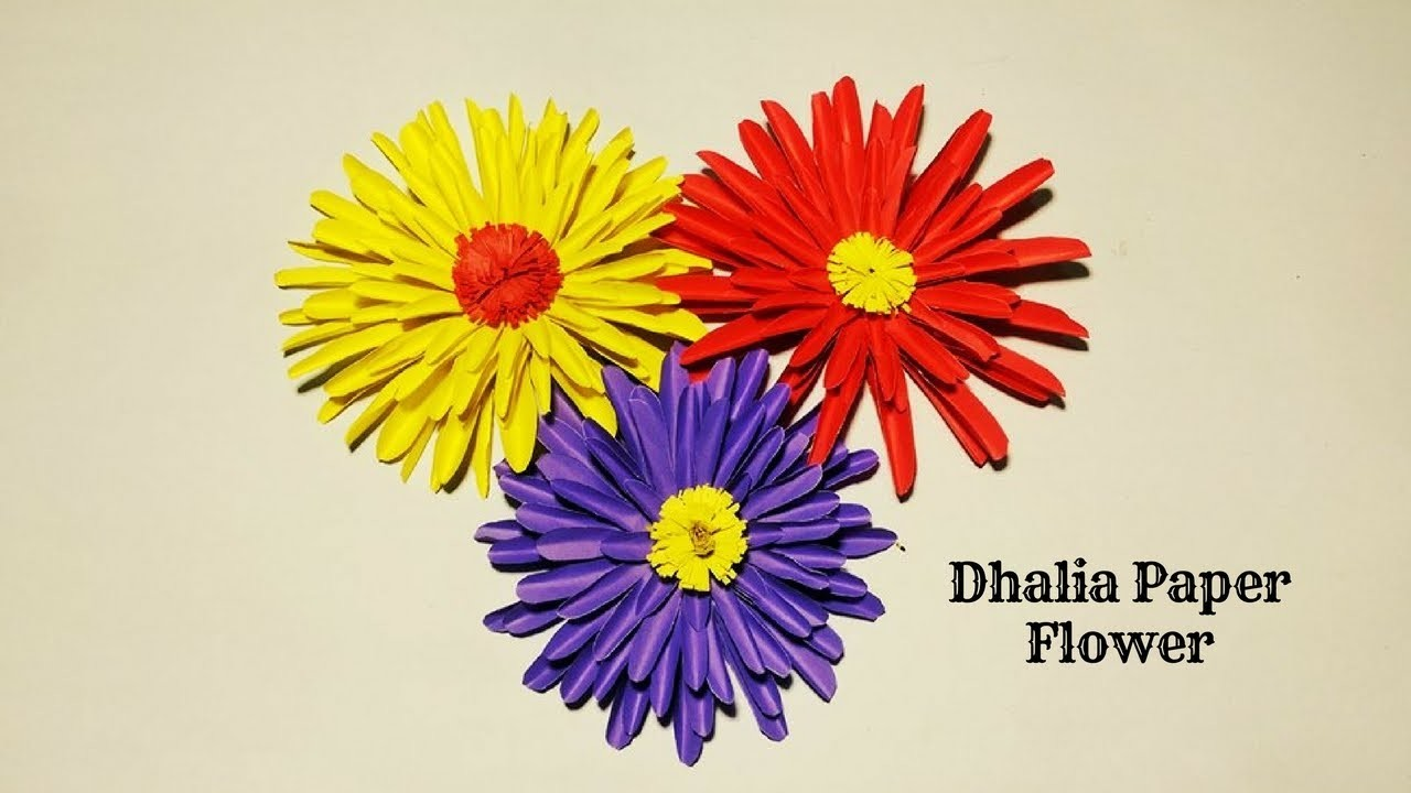 How To Make Dahlia Paper Flower Paper Flowers Easy For Children