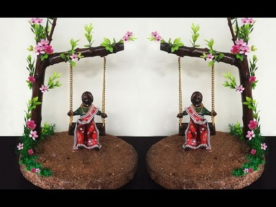 How to Make DIY Clay Doll And Swing | Easy Clay Sculpting Tutorial | DIY Home Decoration Ideas I