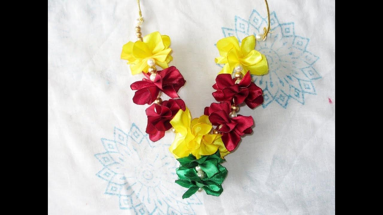 How to make garland for Lord Ganesha-Ganesh festival-DIY
