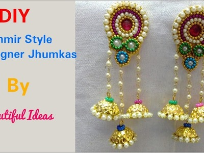 How to Make Jhumkas at Home.DIY.Trend.Earrings.Beginers.Latest Jhumkas. Double. +earring(earring)