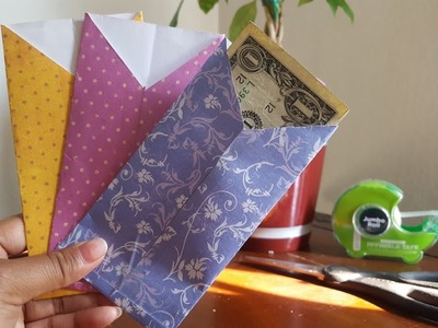 How to make paper cash envelopes | DIY |