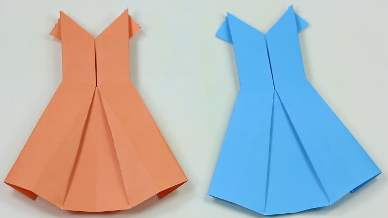how to make paper dress
