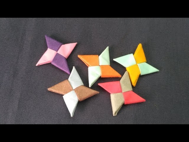HOW TO MAKE PAPER NINJA STAR || DIY || STEP BY STEP