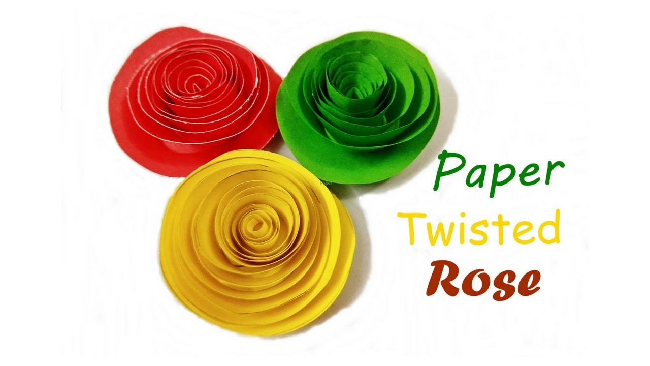 quilling how to make paper quilling rose twisted rose