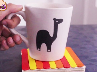How to Make popsicle coaster | popsicle stick crafts | DIY | coaster Art and Crafts TV