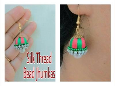 How To Make Silk Thread Jhumka In 3 Minute  - DIY