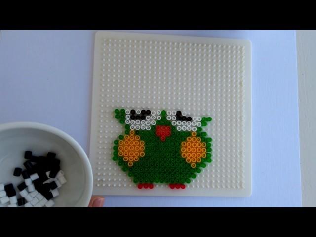 ~JustHandmade~ DIY  owl glass holder from hama (pyssla) beads