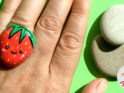 Kawaii Strawberry Stone Ring DIY - More DIY Rings from Red Ted Art