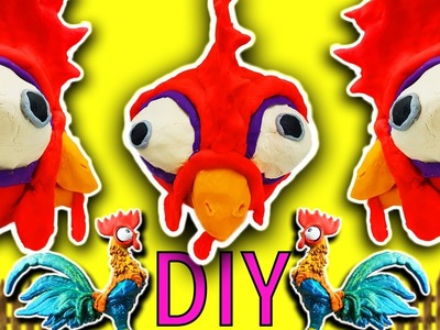 Moana Movie DIY Play-Doh Heihei Crafts For Kids! Learn Colors Drill N Fill Faces How To Video
