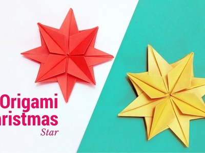 Origami Christmas Star – How to Make Christmas Star – DIY Paper Star Easy Instructions | Room Decor