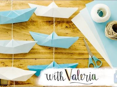 Paper Boat Garland - DIY Kids Room Decoration