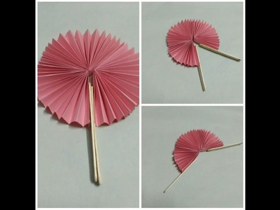 Paper craft ideas: Handmade paper fan using Origamic paper