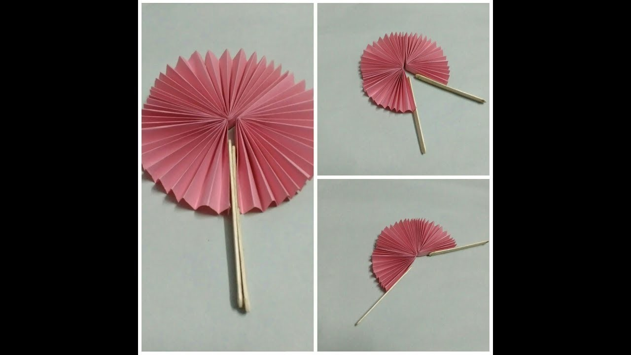 Paper Craft Ideas Handmade Paper Fan Using Origamic Paper