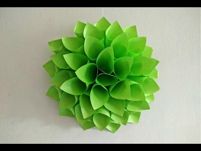 Paper Dahlia || Wedding Backdrops || Paper Flower Backdrop for Wedding || Craftastic
