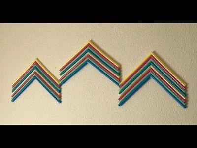 Plastic Straw DIY Wall Hanging Decor