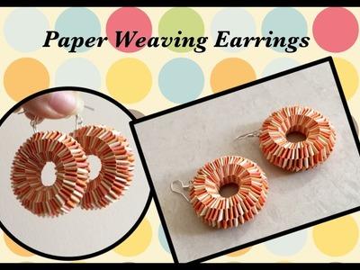 Quilling Paper Weaving Earrings. DIY. Paper Weaving. Boondoggling Earrings | Priti Sharma
