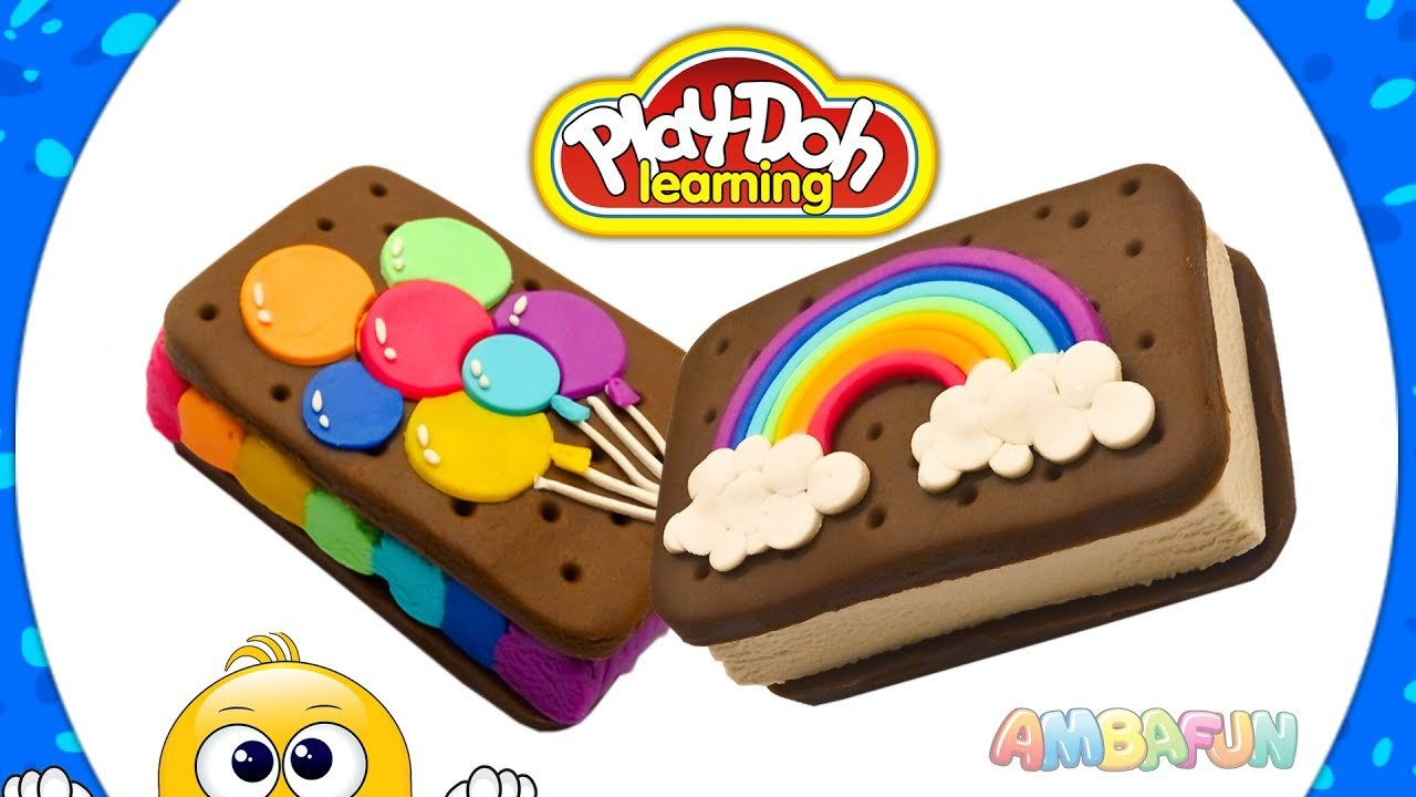 Sandwich Ice Cream. DIY for Kids. Crafts with Play Doh. Educational Videos for Kids. Learn Colors