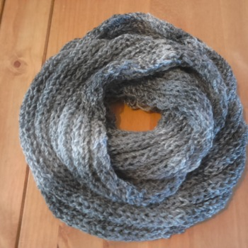 Shawl in grey - homemade