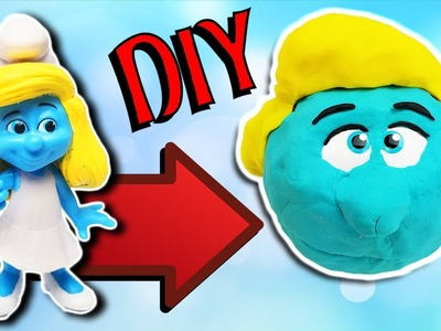 Smurfs DIY Play-Doh Smurfette Crafts For Kids! Learn Colors Drill N Fill Faces How To Video