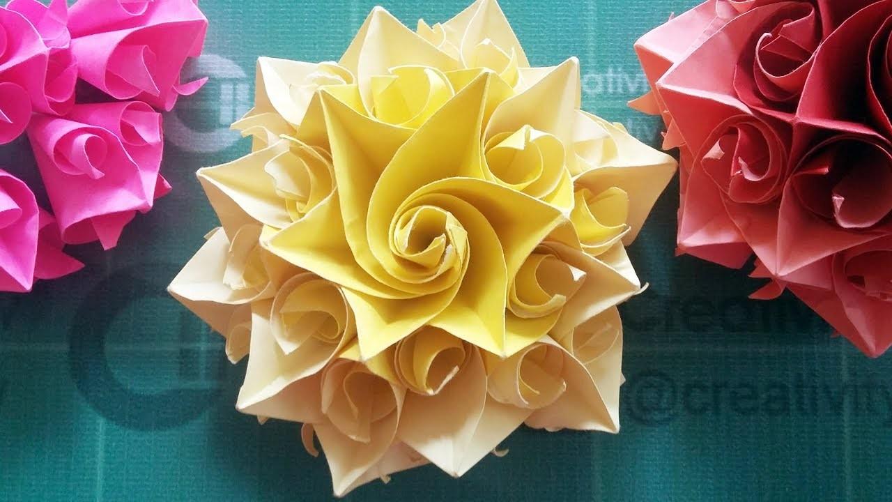 Spiral Conic Paper Flower Diy