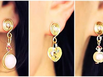 Three Diy Earrings SIMPLE DIY | Earrings DIY | EASY Jewelry!!