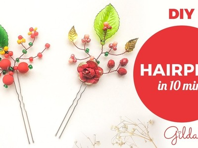 Two DIY Hairpins in 10 Minutes for Your Kids. Baby Hair Accessories [English Subs]