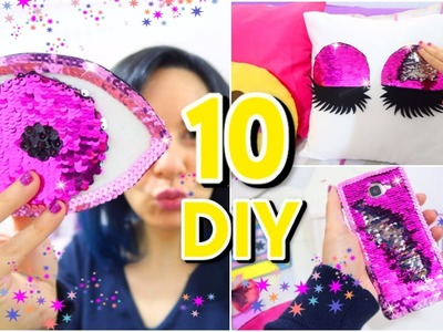 10 DIYs Amazing VIRAL Color Changing! DIY Mermaid Sequin crafts