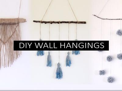 3 DIY Boho Minimal wall hangings -  home decor