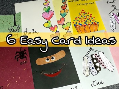6 DIY easy Greeting card Ideas for special occasion | Cute and 3 Minute Craft [Part-1]
