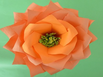 Beautiful flower made with color paper DIY: NB tricks