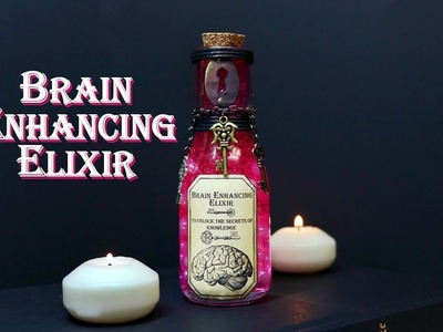 Brain Enhancing Elixir : DIY Potion Bottle : Potion Prop : Steampunk Inspired