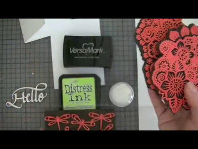 Card background with DIY foam die cut stamps